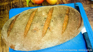 Bread laying on a table