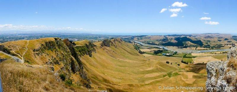 View from Te Mata Peak on the surrounding regions