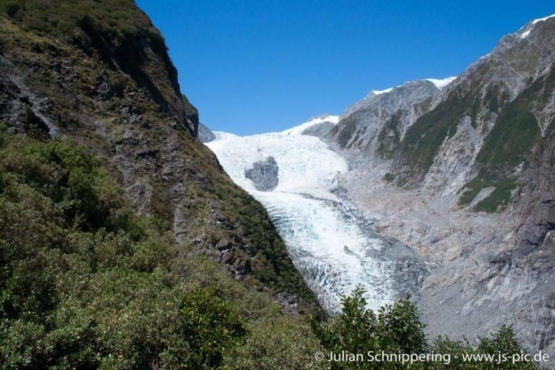 View on Franz Josef Glacier