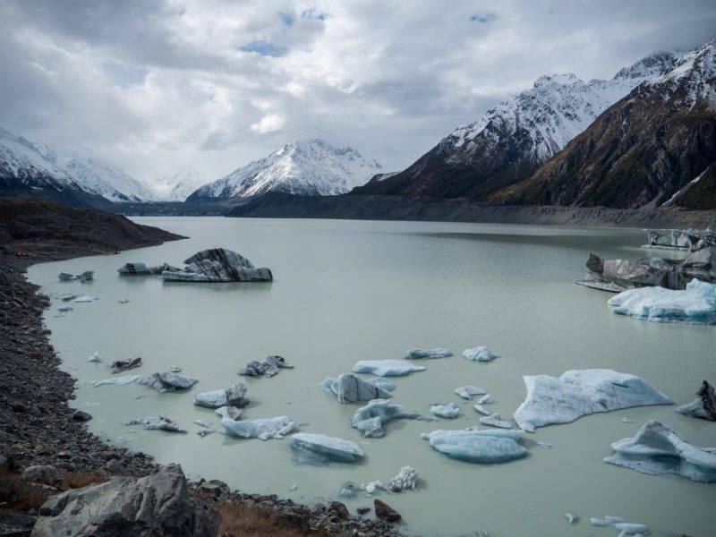 Tasman Valley Glacier Lake