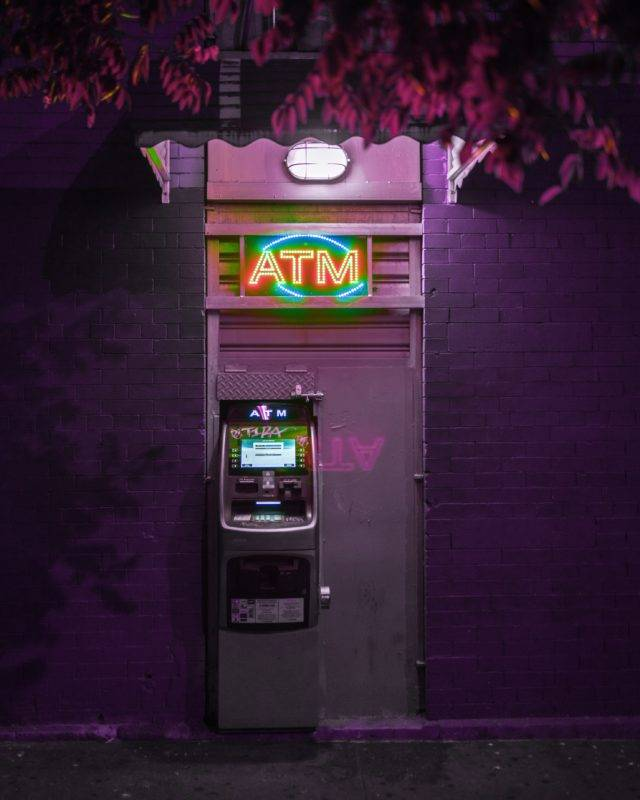 ATM with nice lights