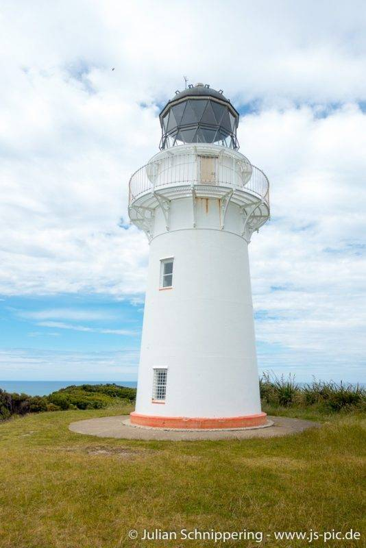 Beautiful lighthouse at the East Cape of New Zealand