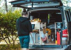 Campervan with kitchen
