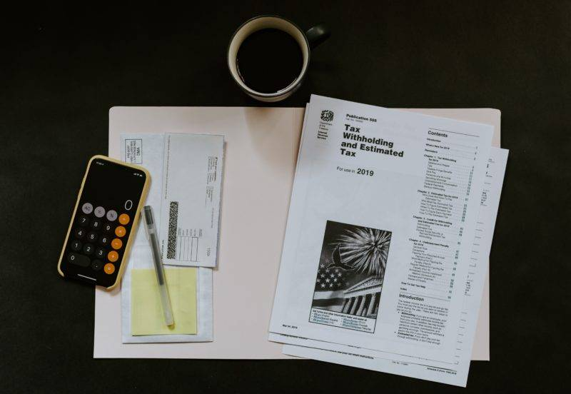 Tax papers on a desk