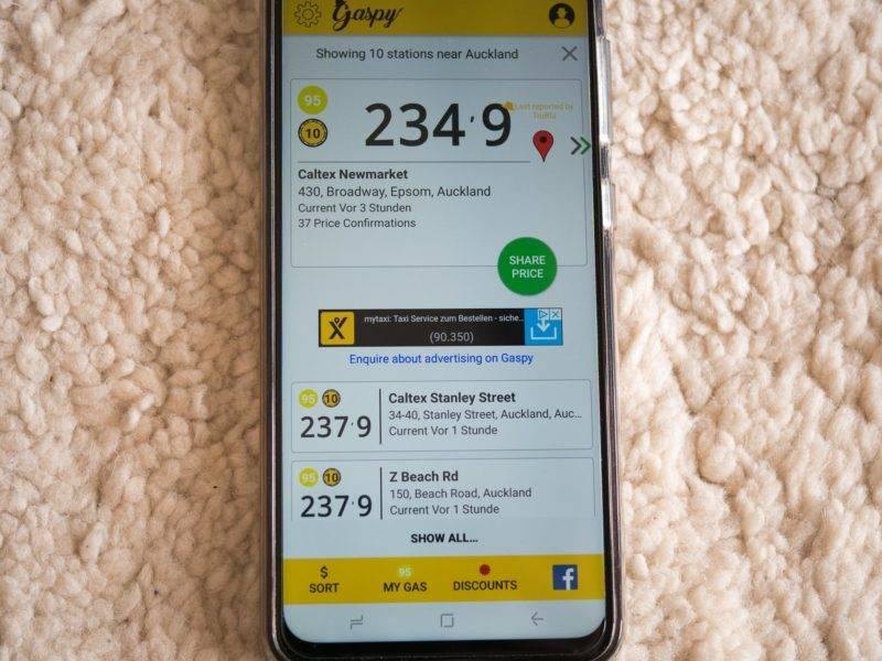 Price Comparison App >> Save Money When Refuelling Through The Price Spy Gaspy Nz