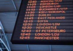 View on the flight times schedule