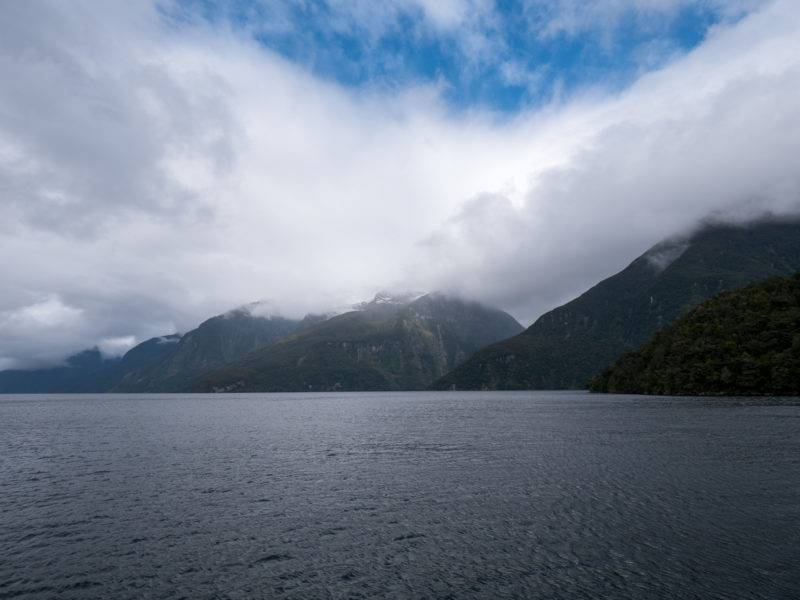 The weather is changing fast in Doubtful sound