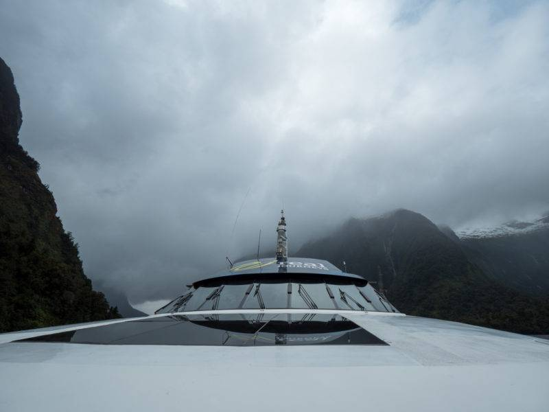 Boat cruise on Doubtful sound