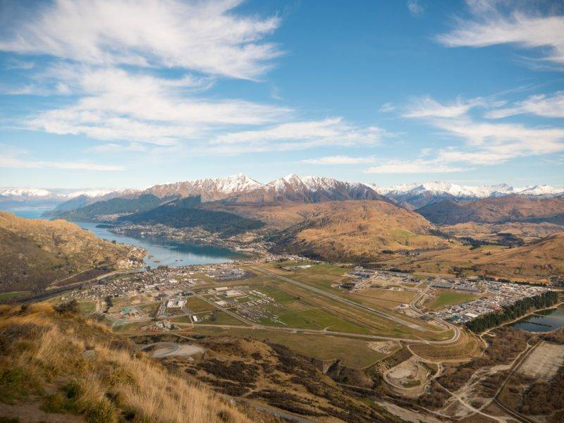 View on Frankton and Queenstown Airport