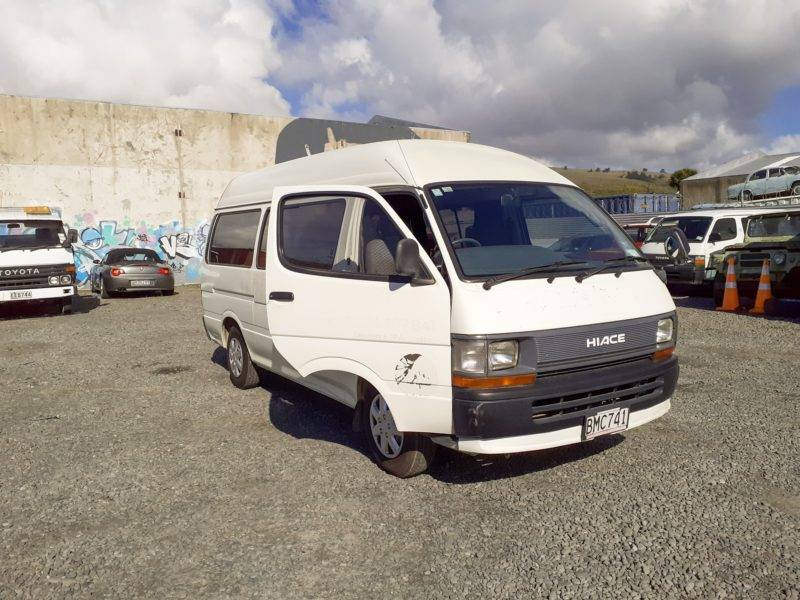 My Hiace on the dealers yard