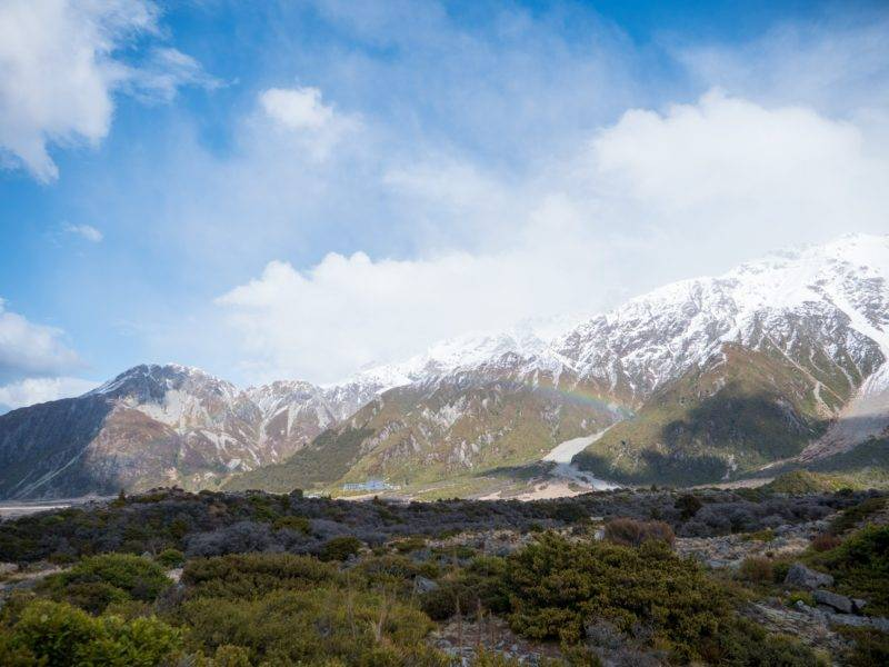 Rainbow at the Hooker Valley