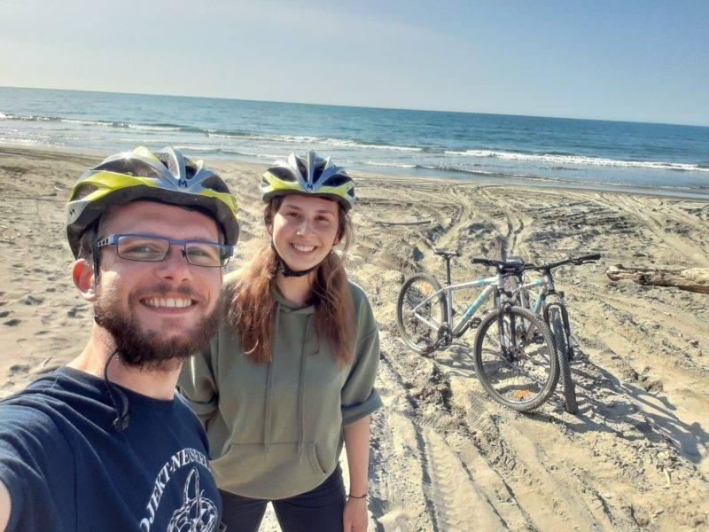 Melina & I make a bicycle tour