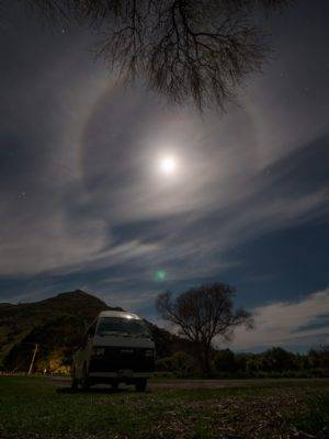 Full moon and our van
