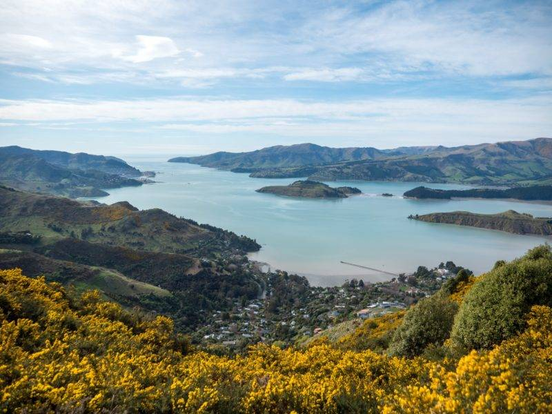 View on governors bay and Lyttelton