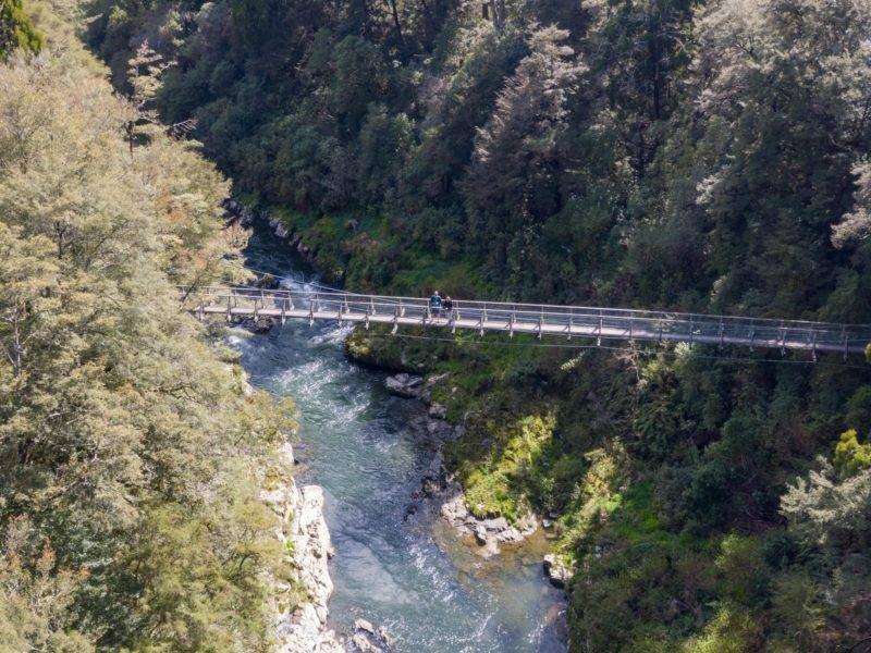 Swing bridge over the Pelorus river