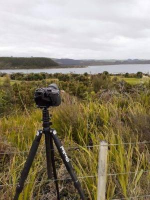Creating a time lapse at the Kai Iwi Lakes