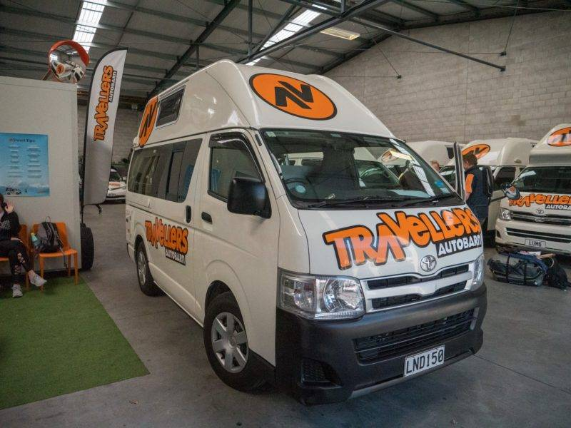 Pickup of our campervan at Travellers Autobarn