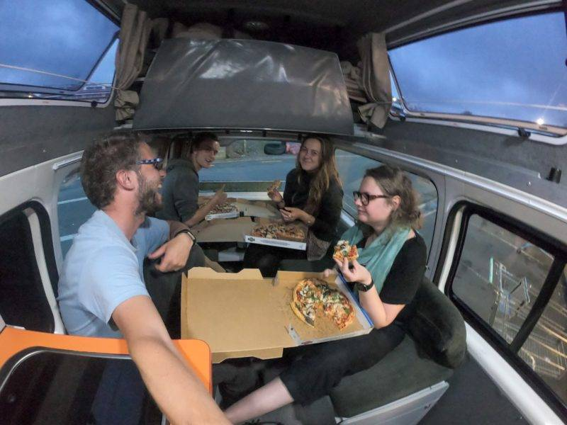 Our second last evening in the van