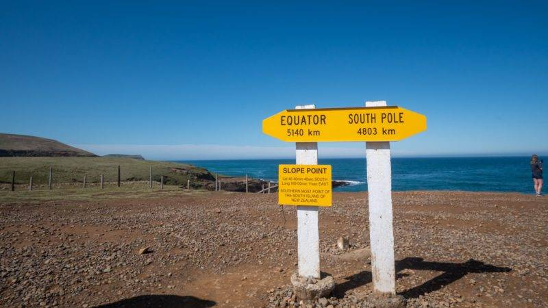 Southernmost point of the mainland, Slope Point