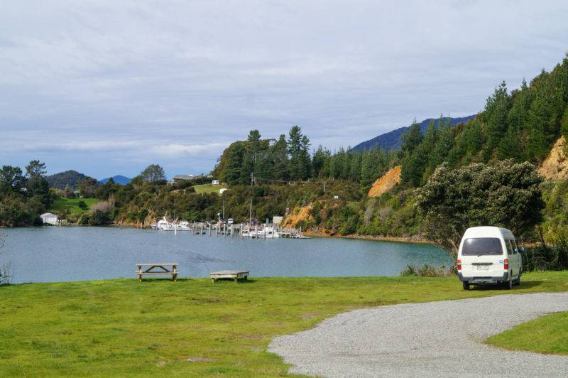 Campground at Elaine Bay