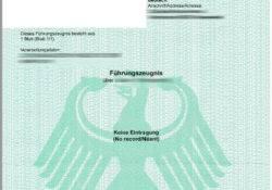 German Police Certificate