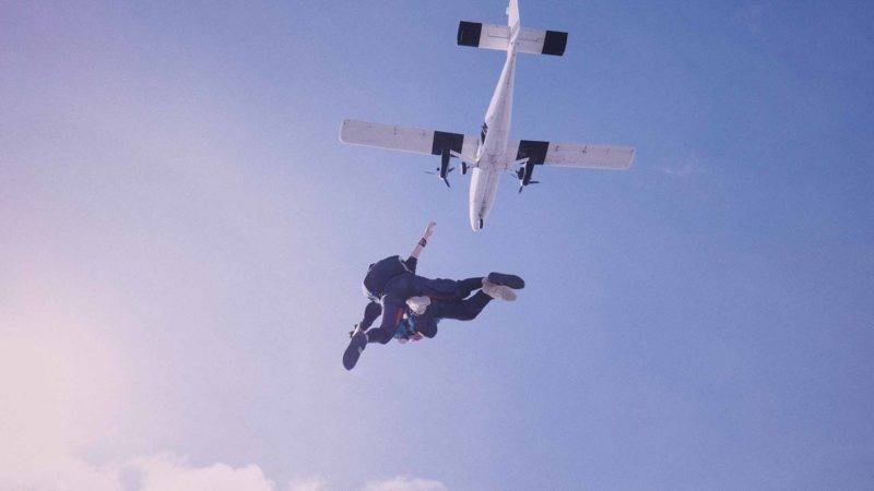 Jumping out of an airplane is one of the crazy options for a skydive in New Zealand
