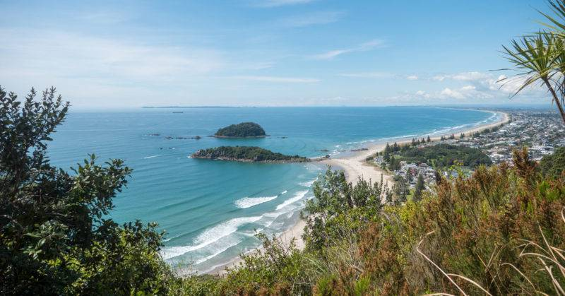View from Mount Maunganui